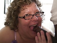BBW Blowjob Granny Interracial