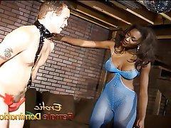 Femdom Mistress Spanking Stockings