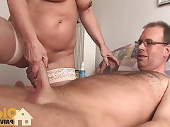Big Boobs Blonde Blowjob German