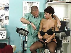 Stockings Small Tits Piercing Doctor