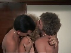 Vintage Group Sex Double Penetration Threesome
