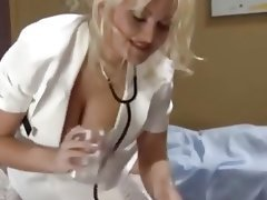 Blonde Handjob Medical