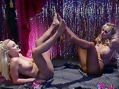 Babe Blonde Lesbian Stockings