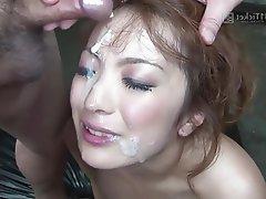 Asian Bukkake Creampie Group Sex
