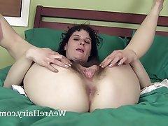 Brunette Hairy Masturbation Mature Small Tits