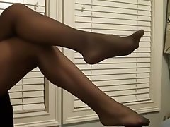 Femdom Foot Fetish Nylon Stockings