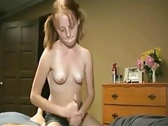 Cumshot Handjob Old and Young Skinny