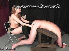 BDSM Femdom Strapon Topless