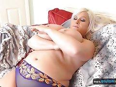 BBW Masturbation Mature Big Tits