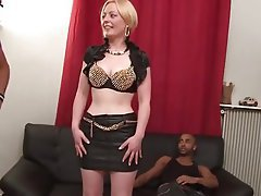 Blonde Interracial MILF Old and Young