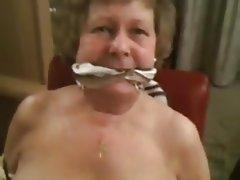 BDSM Bondage Granny Deepthroat