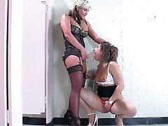 Lesbian Stockings Nylon Strapon