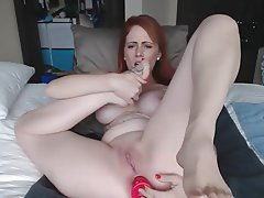 Anal Babe Masturbation Redhead Foot Fetish