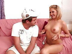 Blonde Blowjob Small Tits Cunnilingus