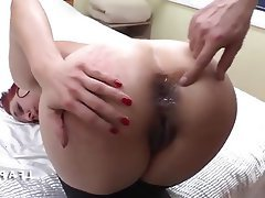 Amateur Anal Double Penetration French Threesome