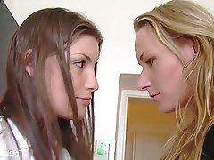 Babe Blonde Brunette Lesbian