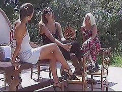 Cunnilingus Czech Lesbian Outdoor Threesome