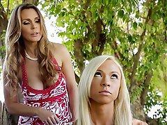 Blonde Lesbian MILF Outdoor
