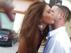 Babe Brunette Blowjob Big Cock Pussy