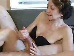 Blowjob Handjob Old and Young Granny