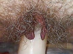 Dildo Hairy Masturbation MILF