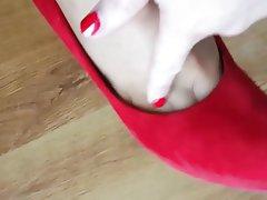 Foot Fetish Footjob High Heels MILF Nylon