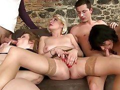 Group Sex Granny Mature MILF