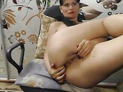 Amateur Masturbation MILF Saggy Tits Webcam