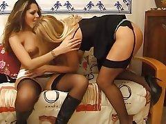 Dildo High Heels Lesbian Masturbation