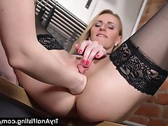 Anal Blonde Fisting Kitchen