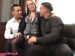 Double Penetration Pornstar Threesome Office