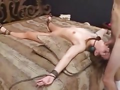 Amateur BDSM Bondage Cum in mouth