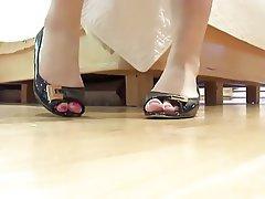Footjob Brunette Foot Fetish
