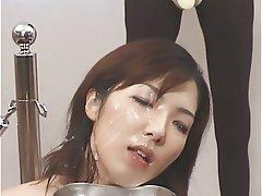 Japanese Bukkake Cum in mouth