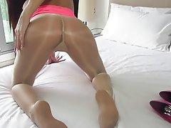 High Heels Nylon Pantyhose Pussy