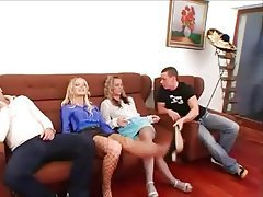Blonde Group Sex Hardcore Lingerie