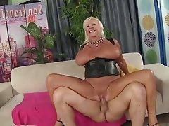Blonde Mature Stockings Granny