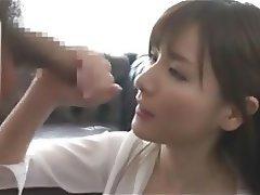 Japanese Pornstar Bukkake Cumshot Handjob