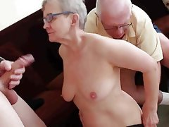 Blowjob Facial Granny Group Sex