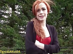 Babe Blowjob Hardcore Outdoor Redhead