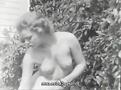 Teen Vintage Outdoor Nudist