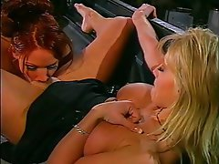 Blonde Lesbian Redhead Strapon