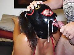 Amateur BDSM Cum in mouth Latex