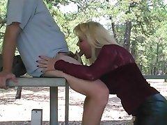 Blonde Blowjob Stockings MILF