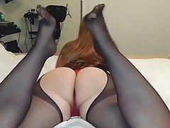 Amateur Nylon Pantyhose Stockings