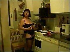 Amateur Masturbation Mature Kitchen