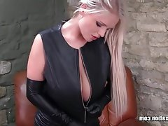 Big Boobs Blonde British Latex