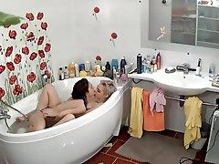 Amateur Shower Lesbian Masturbation