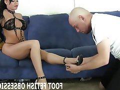 BDSM Femdom Foot Fetish POV Stockings