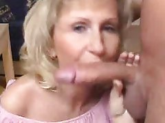 Blonde Blowjob Mature MILF